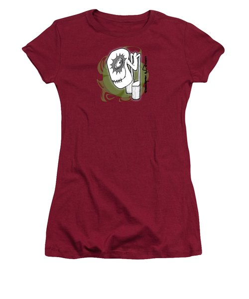 Ganix Women's T-Shirt (Junior Cut) by Uncle J's Monsters