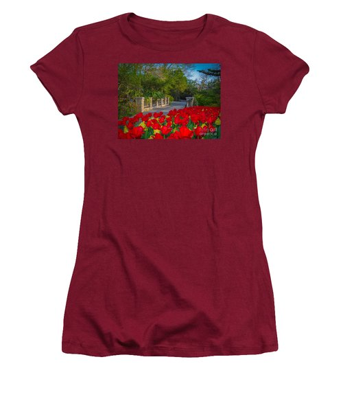 Garden Tulips Along The Trail Women's T-Shirt (Athletic Fit)