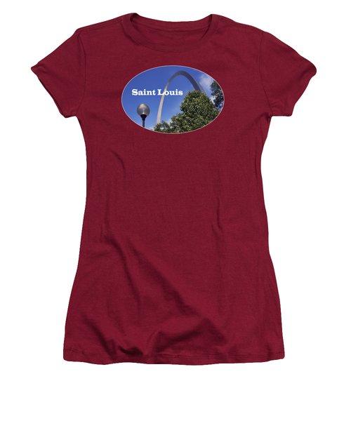 Gateway Arch - Saint Louis - Transparent Women's T-Shirt (Junior Cut) by Nikolyn McDonald