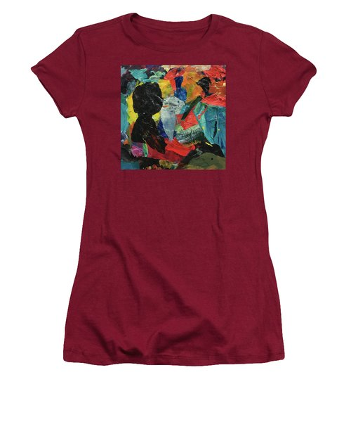 Women's T-Shirt (Junior Cut) featuring the painting Generations by Mary Sullivan