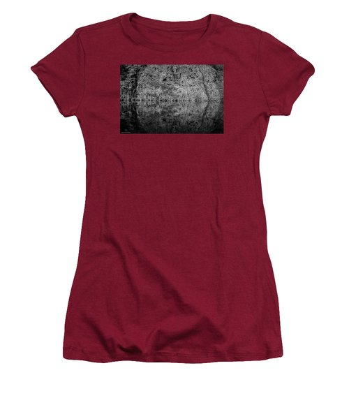 Geometries On A Mountain Lake Women's T-Shirt (Junior Cut) by Cesare Bargiggia