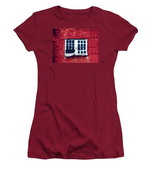 Ghostly Window Women's T-Shirt (Athletic Fit)