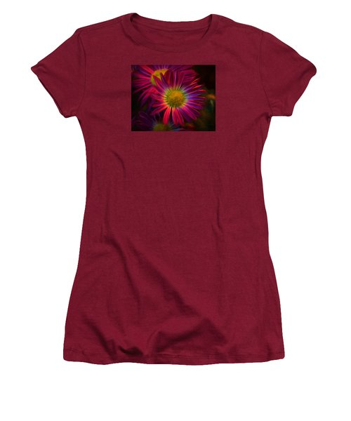 Glowing Eye Of Flower Women's T-Shirt (Athletic Fit)