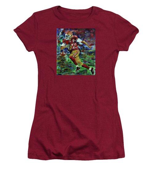 Gold Blooded 49ers Women's T-Shirt (Junior Cut)