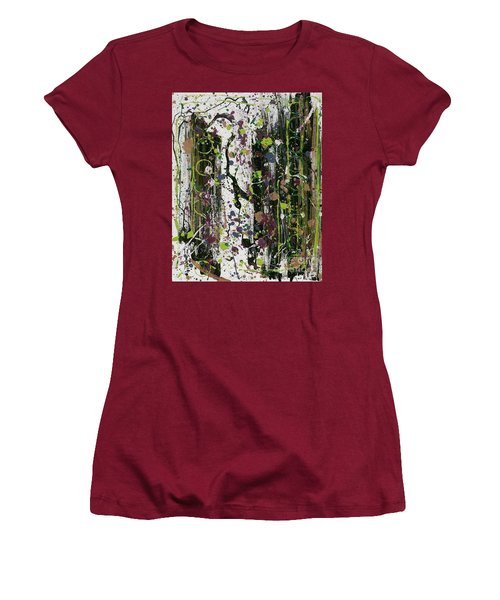 Golden Lime Royal Purple Dreams Women's T-Shirt (Junior Cut) by Talisa Hartley