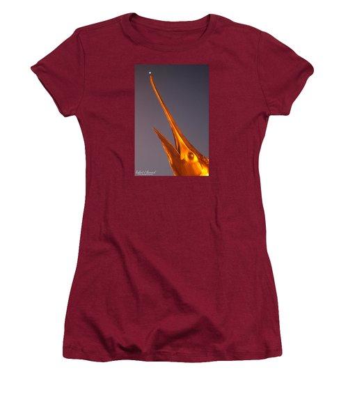 Women's T-Shirt (Junior Cut) featuring the photograph Golden Marlin And A Full Moon by Robert Banach