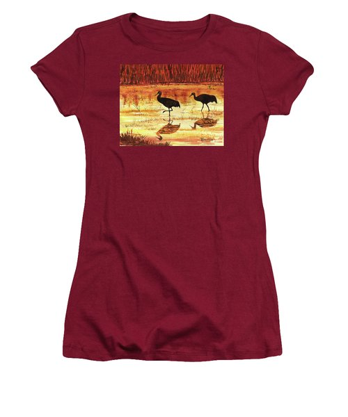 Golden Reflections Women's T-Shirt (Athletic Fit)