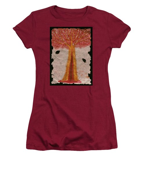 Golden Trees Crying Tears Of Blood Women's T-Shirt (Junior Cut) by Talisa Hartley