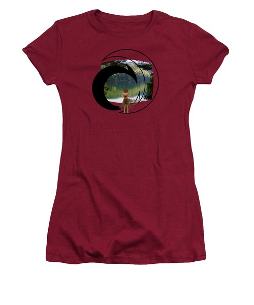 Green Reflections Women's T-Shirt (Athletic Fit)