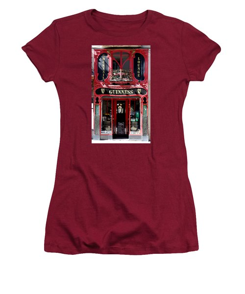 Women's T-Shirt (Junior Cut) featuring the photograph Guinness Beer 5 by Andrew Fare