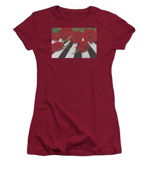 Women's T-Shirt (Junior Cut) featuring the painting Half Dozen Red by Arlene Crafton