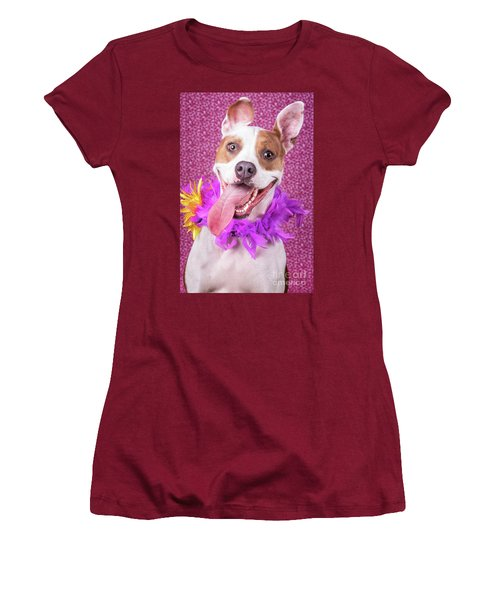 Hapy Dog Women's T-Shirt (Athletic Fit)