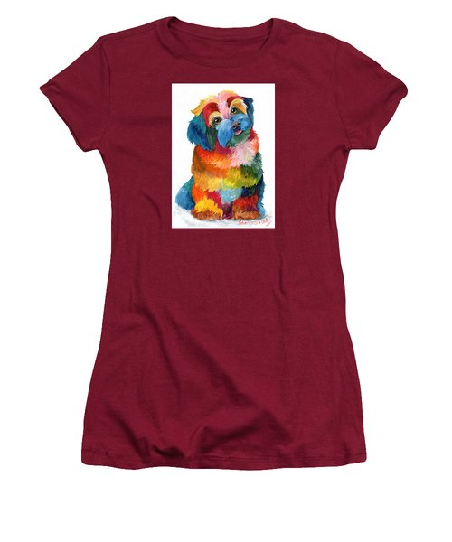 Hava Puppy Havanese Women's T-Shirt (Junior Cut) by Sherry Shipley