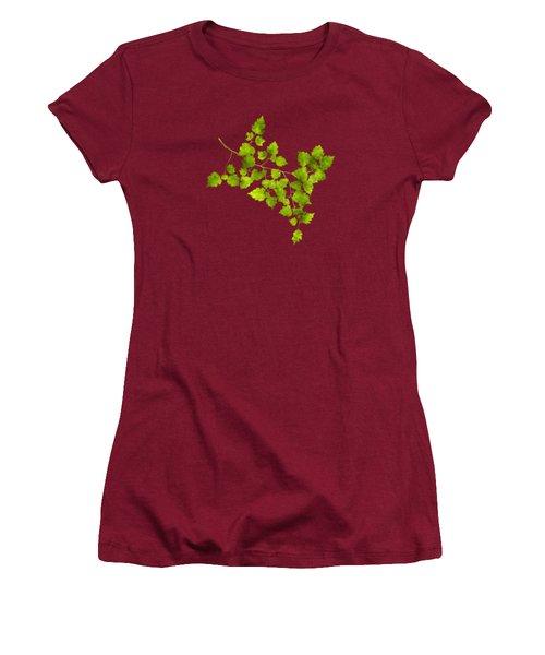 Hawthorn Pressed Leaf Art Women's T-Shirt (Junior Cut)