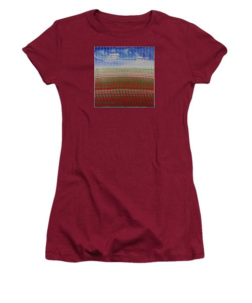 Heart Fields Women's T-Shirt (Athletic Fit)