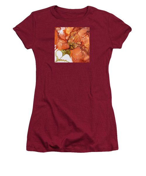 Women's T-Shirt (Junior Cut) featuring the painting Hibiscus by Pat Purdy