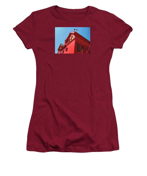 Holland Harbor Light From The Bottom Up Women's T-Shirt (Athletic Fit)