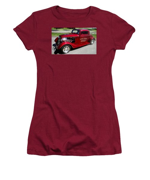 Hot Rod Chief Women's T-Shirt (Junior Cut) by Kevin Fortier