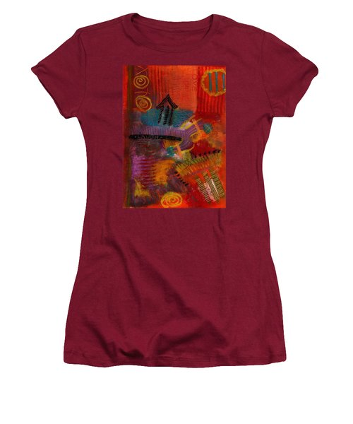 Women's T-Shirt (Junior Cut) featuring the painting House Of Laughter by Angela L Walker