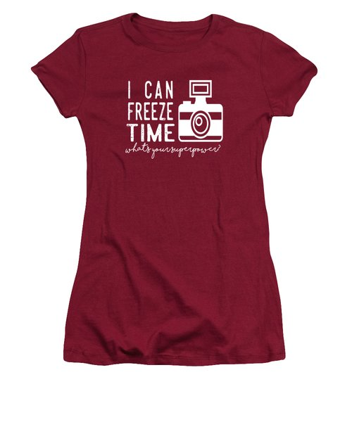 Women's T-Shirt (Junior Cut) featuring the photograph I Can Freeze Time by Heather Applegate
