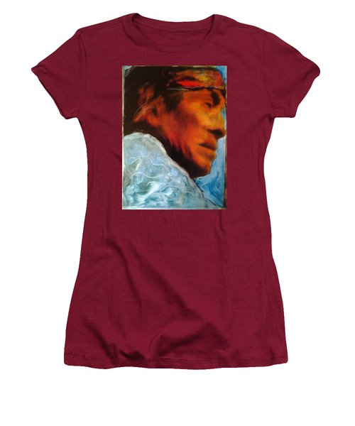 Women's T-Shirt (Junior Cut) featuring the painting In Cool Clear Waters by FeatherStone Studio Julie A Miller