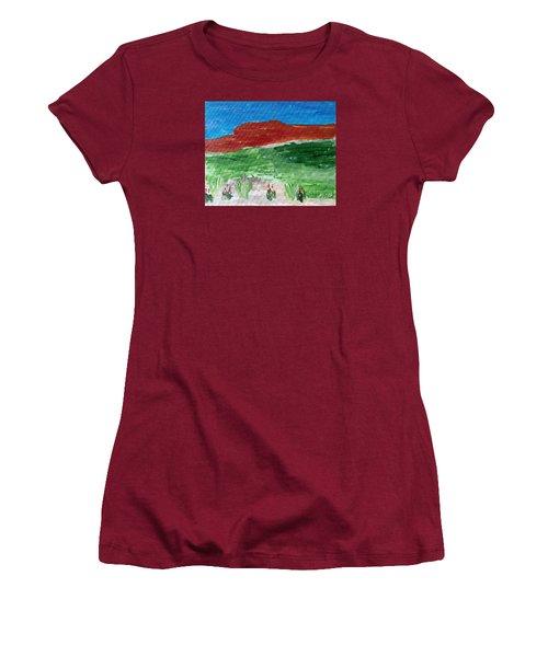 Indian Paintbrush Under A Midday Sun Women's T-Shirt (Junior Cut) by Brenda Pressnall