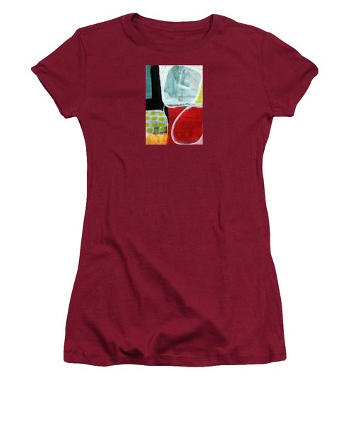 Intersection 37- Abstract Art Women's T-Shirt (Junior Cut) by Linda Woods