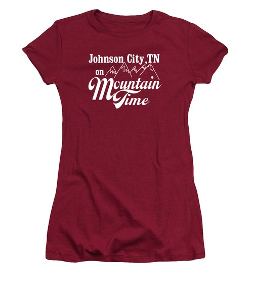 Women's T-Shirt (Junior Cut) featuring the digital art Johnson City Tn On Mountain Time by Heather Applegate