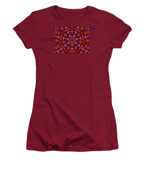 Kaleidoscope With Seven Petals Women's T-Shirt (Athletic Fit)