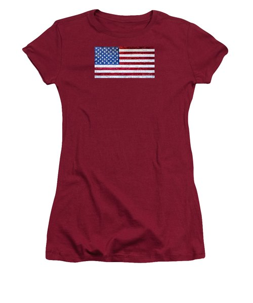 Land Of The Free Women's T-Shirt (Junior Cut) by David Millenheft