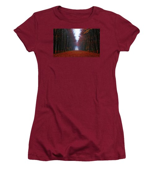 Late Fall Forest Women's T-Shirt (Athletic Fit)