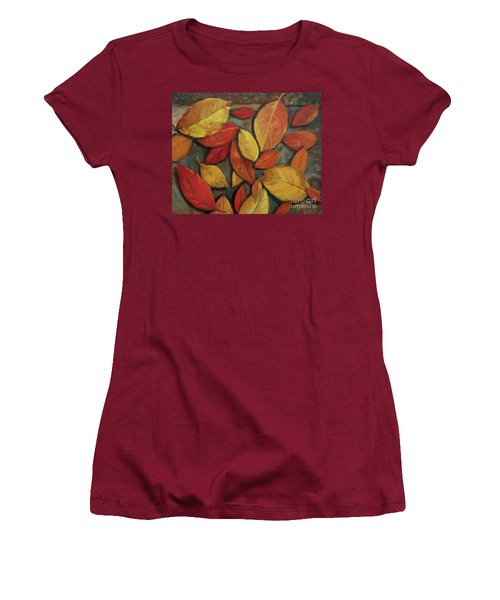 Leaf Collection Women's T-Shirt (Junior Cut) by Mary Hubley