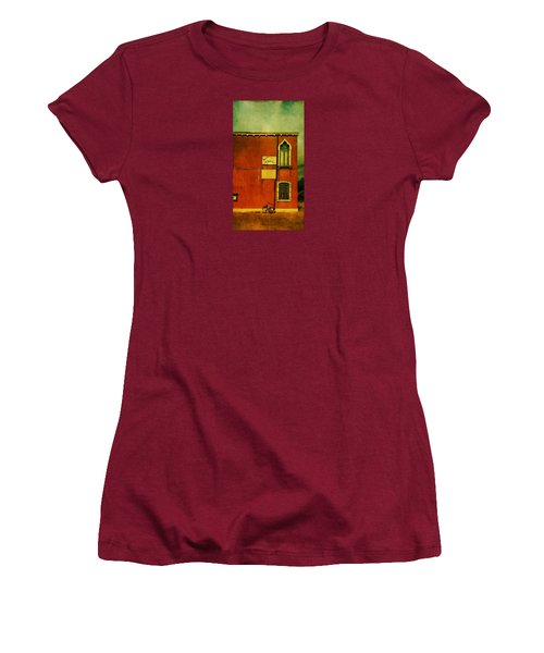 Women's T-Shirt (Junior Cut) featuring the photograph Lido Lion by Anne Kotan