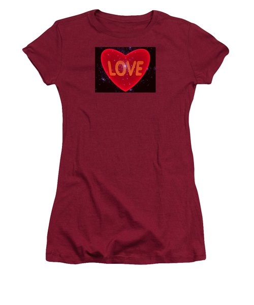 Loving Heart Women's T-Shirt (Junior Cut) by Ernst Dittmar
