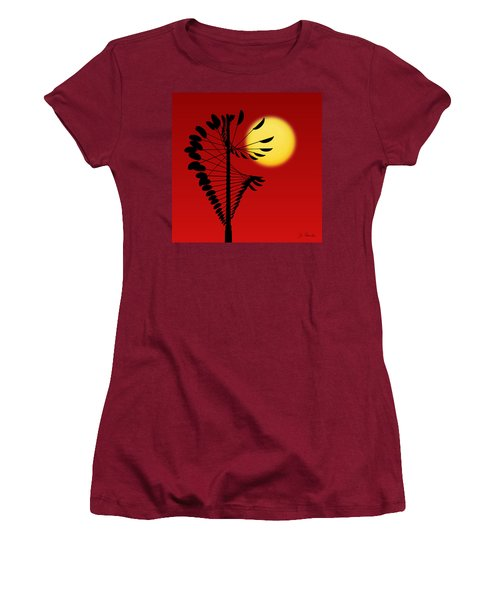 Magical Mobile And Sun Women's T-Shirt (Athletic Fit)