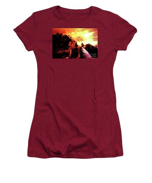 Women's T-Shirt (Junior Cut) featuring the photograph Magnificent Church Of Biblian IIi by Al Bourassa