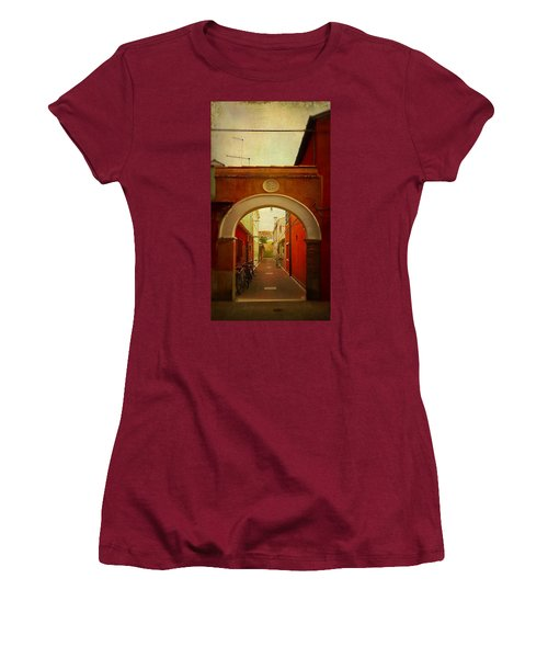 Women's T-Shirt (Junior Cut) featuring the photograph Malamocco Arch No1 by Anne Kotan