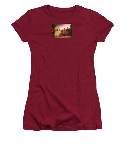 Women's T-Shirt (Junior Cut) featuring the photograph Malamocco Corner No2 by Anne Kotan