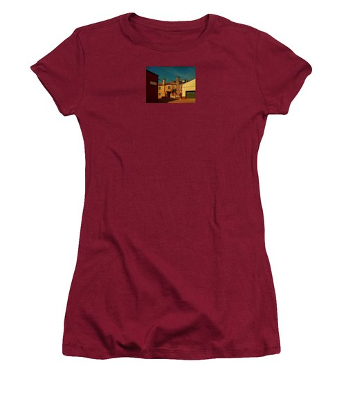 Women's T-Shirt (Junior Cut) featuring the photograph Malamocco House No2 by Anne Kotan