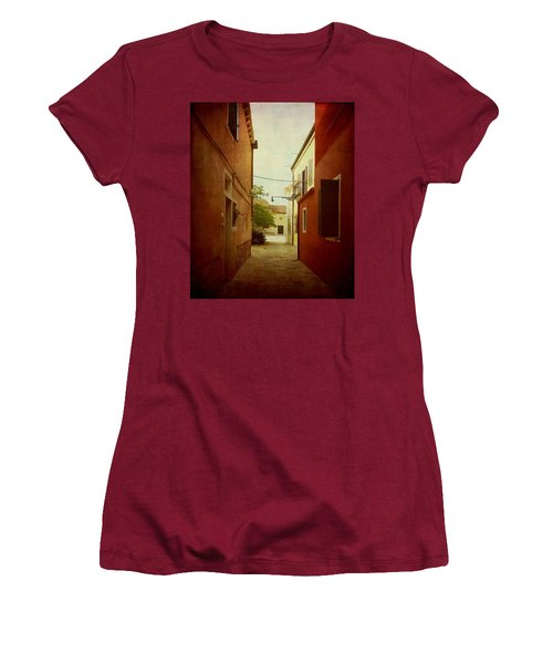 Women's T-Shirt (Junior Cut) featuring the photograph Malamocco Perspective No2 by Anne Kotan