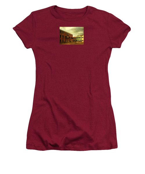 Women's T-Shirt (Junior Cut) featuring the photograph Malamocco Piazza No1 by Anne Kotan