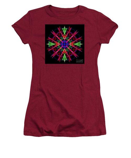 Women's T-Shirt (Athletic Fit) featuring the digital art Mandala 3351 by Rafael Salazar