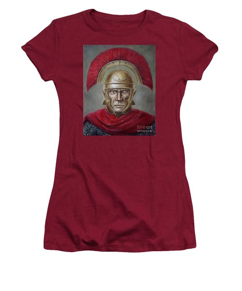Marcus Cassius Scaeva Women's T-Shirt (Junior Cut) by Arturas Slapsys