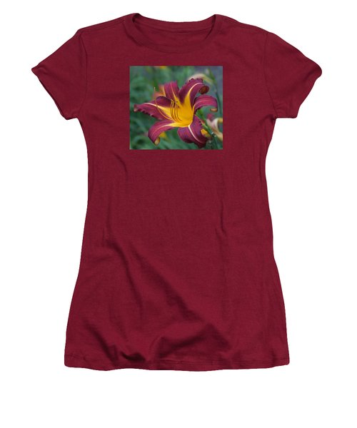 Maroon And Gold Women's T-Shirt (Junior Cut) by Arlene Carmel