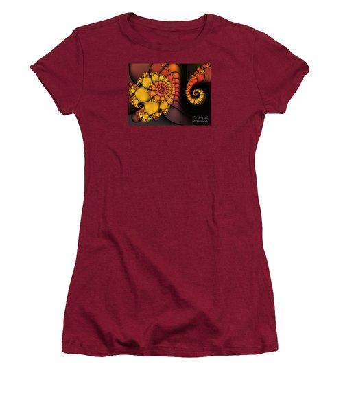 Women's T-Shirt (Junior Cut) featuring the digital art Meeting by Karin Kuhlmann