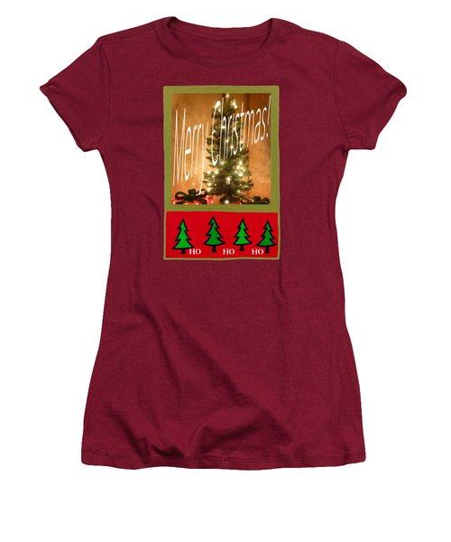 Merry Christmas Hohoho Women's T-Shirt (Junior Cut) by Barbie Corbett-Newmin