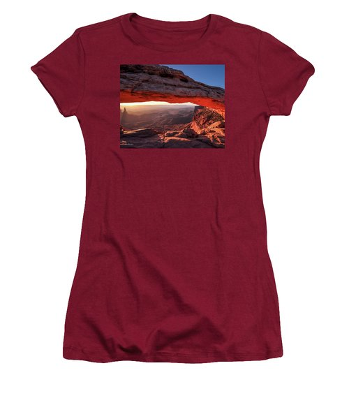 Mesa Arch At Sunrise 2, Canyonlands National Park, Utah Women's T-Shirt (Athletic Fit)