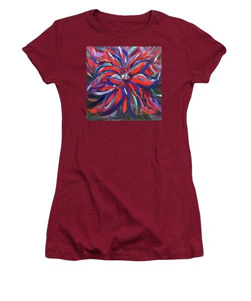 Midnight Poinsettia Women's T-Shirt (Junior Cut)