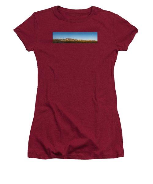 Moon Over Pintada Mountain At Sunrise In The San Juan Mountains, Women's T-Shirt (Junior Cut) by John Brink