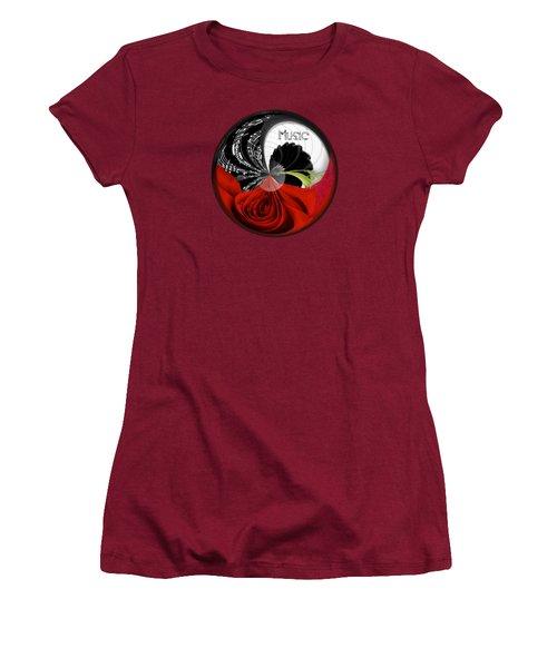 Musical Orb Women's T-Shirt (Junior Cut) by Phyllis Denton